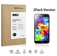 [2PACK, LIFETIME WARRANTY] XOXO Mobile® Premium Tempered Glass Screen Protector for Samsung Galaxy S5 / i9700 - Real Tempered Glass - Scratch Proof - Oleophobic Coating - Ultra Crystal Clear - Easy to Install [2.5D Rounded Edges] [Super Thin 0.3mm]