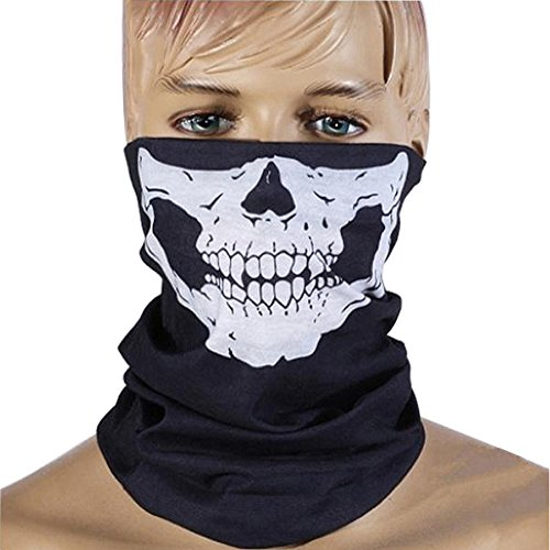 ZZoo Cotton Ghost Mask Skull Heads Warm Scarf Outdoor Cycling Dust Mask Halloween Cosplay Costume (White) ()