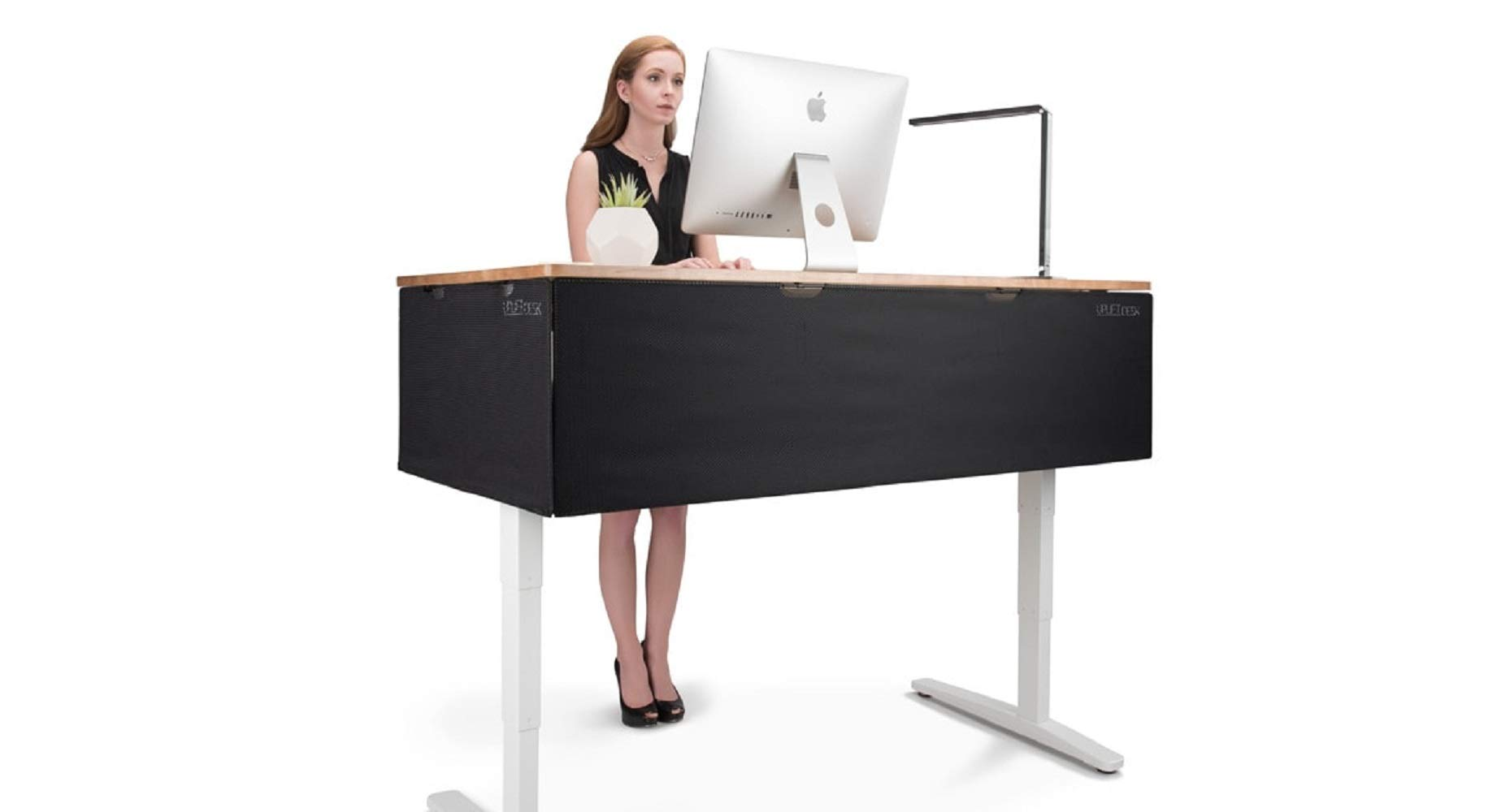 UPLIFT Desk - 48'' Modesty Panel with Wire Management (Black) by UPLIFT Desk