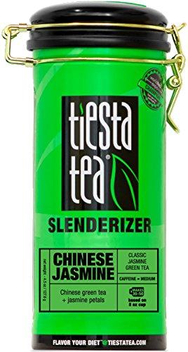 Tiesta Tea Slenderizer, Chinese Jasmine, Classic Jasmine Green Tea, Loose Leaf Tea , Medium Caffeine, 4.5 Ounce Tin