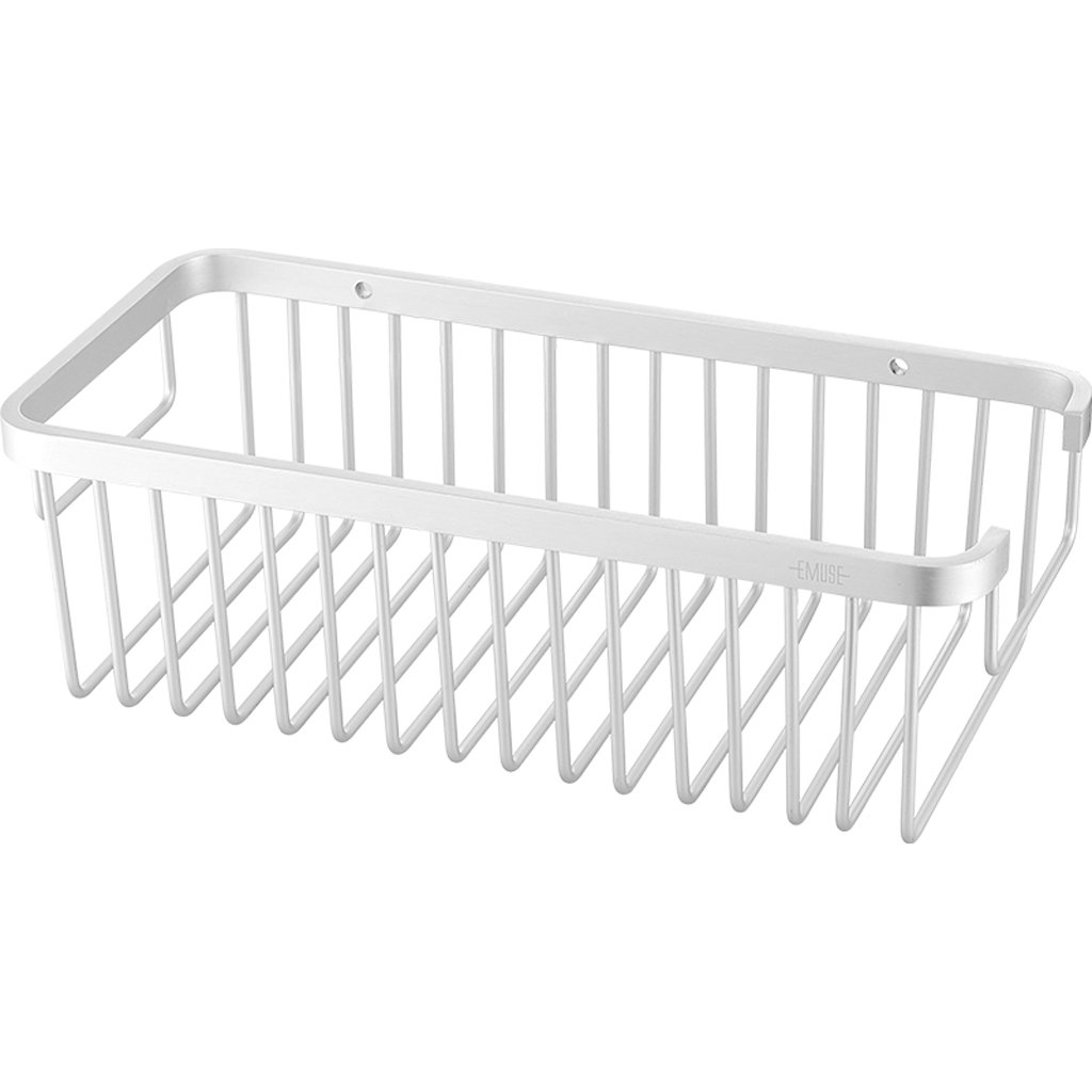 XY Soap dish Space Aluminum Bathroom Basket Hanger Wall Mount Single Layer Bathroom Storage Rack 140cm 90cm 173cm (Color : A)