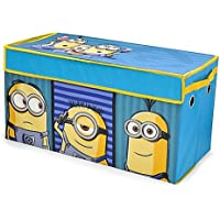Universal Despicable Me Minions Kevin, Bob and Stuart Kids Collapsible Space Saver Organizer Toy Storage Trunk, Great Gift For Kids