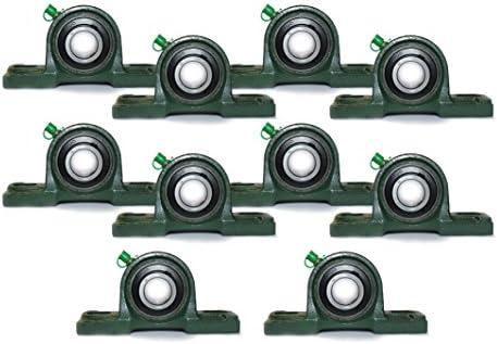 10 Stück UCP206 / UCP 206 Lagerbock Stehlager 30 mm Welle / 2 Loch Stehlager Wellendurchmesser 30cm Stehlager-Gehäuseeinheit P206