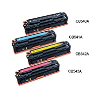 Inktonerplus Full Set 125A Compatible Toner Cartridge Replacement for CB540A 541A 542A 543A (1BK/1C/1Y/1M)