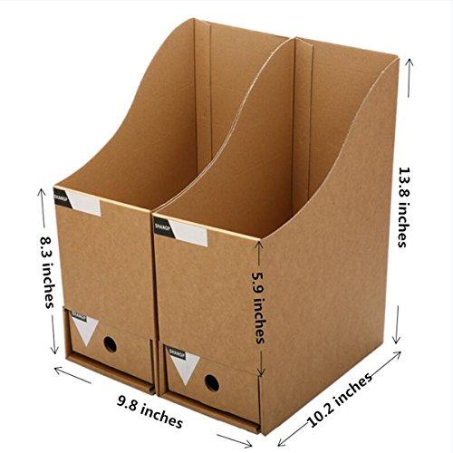 Caveen File Organizer Kraft Paper File Holder Office Supplies Magazine ...