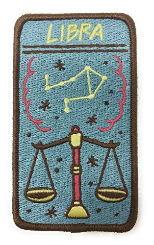 Libra Zodiac (O'Houlihans - Libra Zodiac Patch - Iron on Patch - Embroidery Patch - Zodiac Morale Patch)