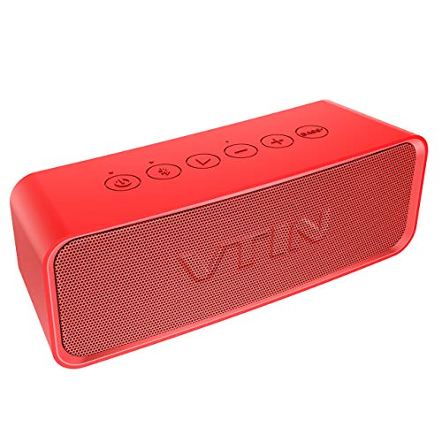 Vtin Portable Bluetooth Speaker with IPX6 Waterproof, Support Deep Bass Mode & Classic Mode Outdoor Portable Speaker with HiFi-Tec, Aux Cable. Waterproof Speaker for Beach/Party/Dance, Blue