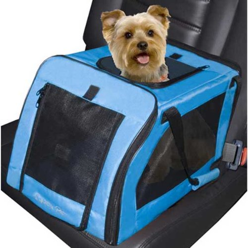 Signature Pet Car Seat Carrier Aqua 4 pack 20'' x 13'' x 12'' by Pet Gear