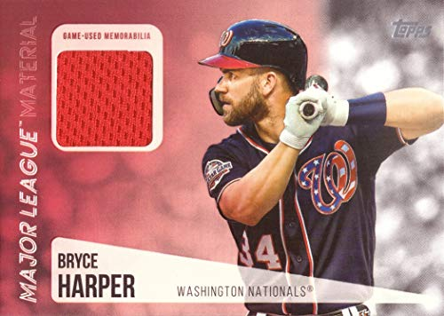 2019 Topps Relics #MLM-BH Bryce Harper Game Worn Nationals Jersey Baseball Card