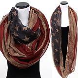 vintage american flag scarf - Sale: Infinity American Flag Scarf, Vintage American Scarf, Oblong Scarf, Loop Scarf, July 4th Scarf, Patriotic Scarf, Flag Scarf