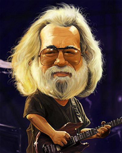 Jerry Garcia Grateful Dead Caricature Very Limited Edition (1 of 20) Giclee on Canvas Artwork: Musician, Signed,...