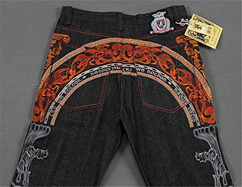 Colour Cómodos Sueltos De De Vaqueros Pantalones Pantalones De Hombres Hop Moda De Hip Ropa Ocio De Vendimia La Suave Jean La Mezclilla Impresión Vendimia Los De La Pantalones Cómodos Tamaños 8CwRTx