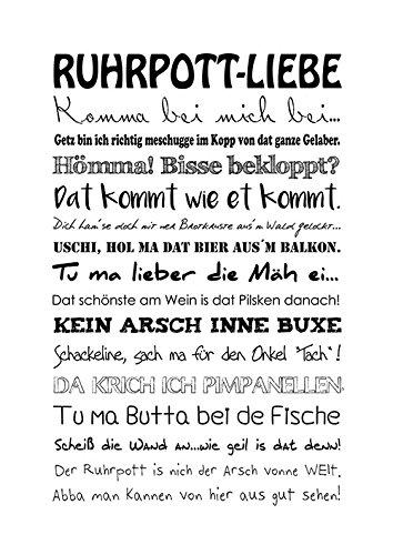 ruhrpott sprüche Amazon.de: artissimo, Poster mit Spruch, Din A4, PE0056 DR  ruhrpott sprüche