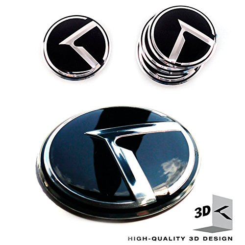 3d K Logo Emblems 4EA Set Wheel Center Caps Kia Rio, Forte, Forte Koup, Optima, Sportage, Sorento all Years