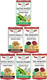 HIMALYA FRESH 6 Pack Variety of Canned Indian Curries - (Two 15 oz. cans each of Dal Makhani, Chana Masala and Matar Paneer) All Natural Authentic Indian Food - Vegetarian, No Fillers Or Preservatives