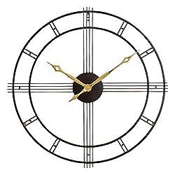 Aspire Rumi Mid Century Wall Clock, Brown