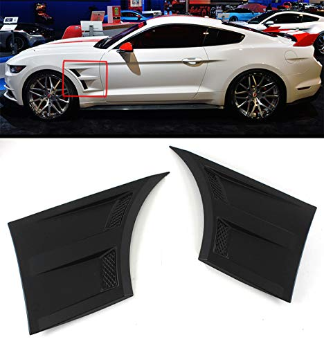 Fits For 2015-2018 Ford Mustang 3D Style Front Fender Side Vents Scoops ()