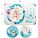 Baby-Monthly-Milestone-Blanket-Fleece-Baby-Photography-Backdrop-Memory-Blanket-Newborn-to-12-Months-Watch-Baby-Boy-or-Girl-Grow-Soft-Large-60in-X-40in