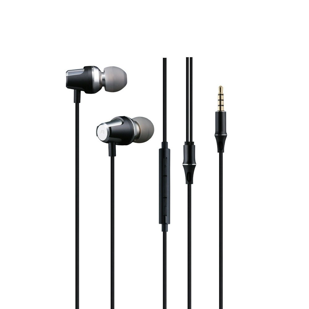 Best Noise Cancelling in-ear Headphones / Earbuds / Earphones with Microphone and Volume Control for iphone/android/ipod/pc, Black