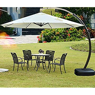 POMER Umbrella Cover for 7ft to 10ft Outdoor Patio Offset Cantilever Umbrellas,Durable Waterproof Breathable Oxford Fabric-Black: Kitchen & Dining