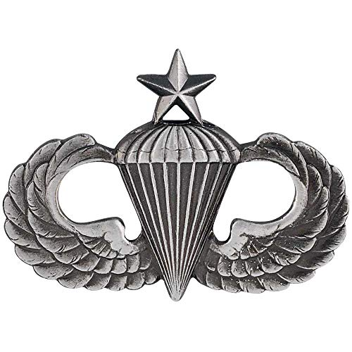 Medals of America Army Senior Parachute Badge Silver Oxide Regulation Size Full Size
