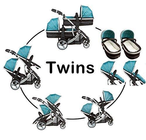 Duellette 21 Combo Twin Tandem Pushchair