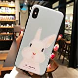 BONTOUJOUR iPhone 7 case iPhone 8 Cover Case Super Cute Cartoon Animal Pattern Soft TPU Bumper Hard PC Back Cover for Girls 360 Degree Protection (Cute Rabbit, iPhone 7/8)