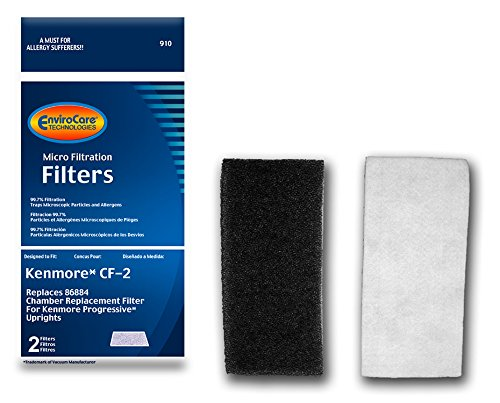 EnviroCare Replacement Vacuum Filters for Kenmore CF2 Progressive Upright Vacuum Cleaners 2 Pack