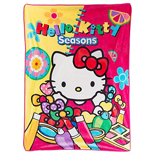 Hello Kitty Pink Printed Soft Silk Touch Throw Blanket, 50X70