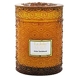 LA JOLIE MUSE Wood Wick 21Oz Sandalwood Scented Ca