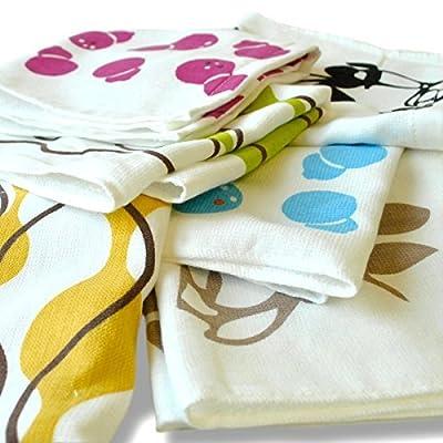 6 pieces set gauze handkerchief gauze towel towel gauze towel made in Japan outlet Japanese pattern (japan import)