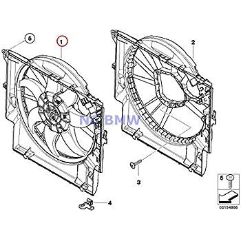 Amazon Com Bmw Genuine Fan Housing Mounting Fan Shroud 135i X1 28i