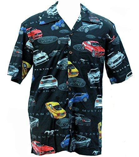 Ford Mustang 2015 Cars Hawaiian Camp Shirt by David Carey (2X)