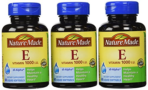 Nature Made vitamine E 1000 UI, 60 gélules (Pack de 3)