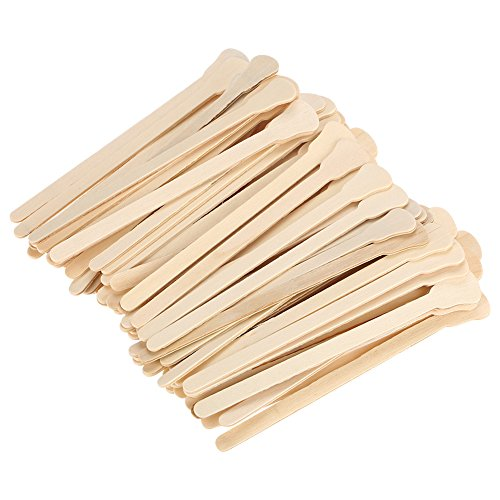 100pcs Disposable Wooden Waxing Spatulas Tongue Depressor Wax Applicator Sticks Facial Cream Spatulas Small Wood Craft Sticks for Waxing Body Hair Care