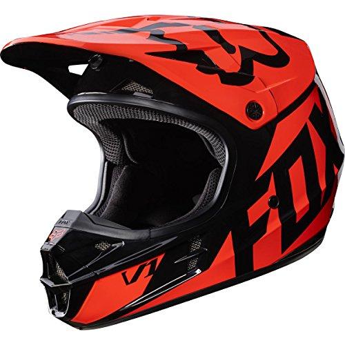 2017 Fox Racing V1 Race Helmet-Orange-S (Fox V1 Race Helmet)