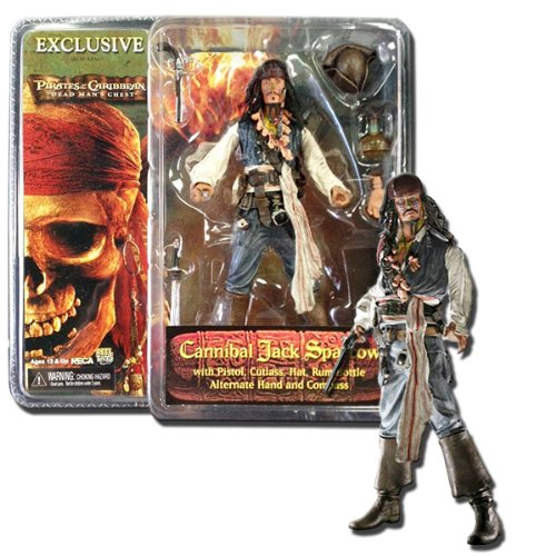 Pirates of the Caribbean: Dead Man's Chest Series 1 Comic-Con Exclusive Cannibal Jack Sparrow Action Figure (Caribbean Jack Cannibal)