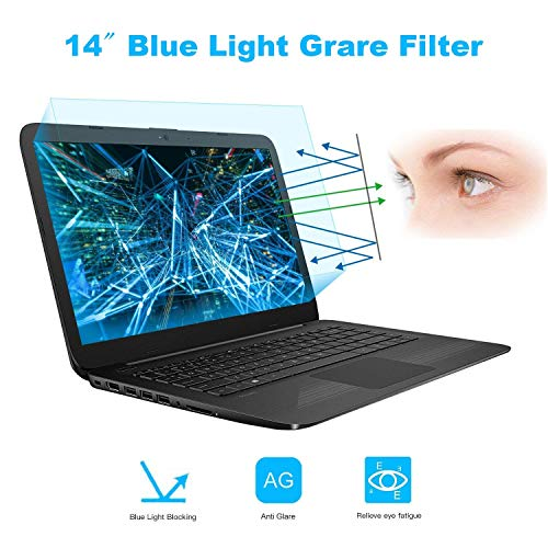 2-Pack 14 Inch Screen Protector -Blue Light and Anti Glare Filter, FORITO Eye Protection Blue Light Blocking & Anti Glare Screen Protector for 14