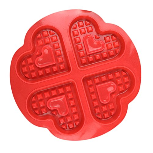 Chige Candy Mold, Silicone Baking Trays - Food Grade & BPA Free - Not Sticky Cake Decoration Mould For Mousse,Chocolate Brownie,Jelly,Ice Cream,Chiffon,Cheesecake,Fondant (Waffles)