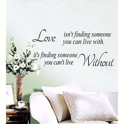 f08309f3d9d2 Love Quotes Wall Sticker Love Isn t Finding Someone You Can Live With