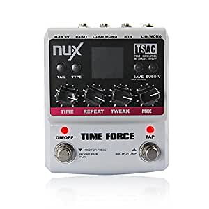 NUX Time Force Multi Modulation Digital Delay Effects Guitar Effect Pedal (11 Delay Effects + 9 preset position + Kill dry function + Tail keeping function)