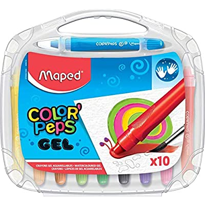 Maped Color'Peps Gel Smoothy Crayons (10 Pack): Office Products