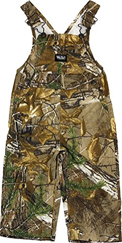 Walls Boy's Infant Hunting Non Insulated Bib Overalls, Real Tree Extra, 18M
