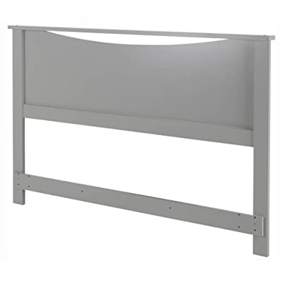 South Shore Step One Headboard, Full/Queen 54/60-Inch, Soft Gray: Kitchen & Dining