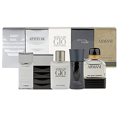 InternetFragrance] Gíorgio Armaní Mini Attítude 5 Piece Gíft Set for Men by (InternetFragrance)