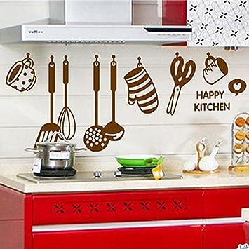 Amovible Stickers Muraux Mur Autocollant Ustensile Pour Cuisine