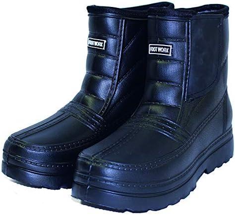 シンセイ(Shinsei) 防寒ブーツ FOOT WORK SS-0096 裏ボア&ウレタン仕様であったか ブラック