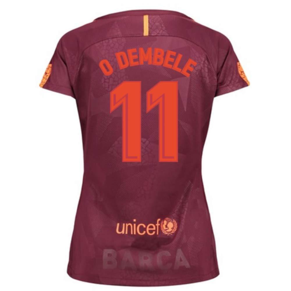 2017-18 Barcelona Third Damens Football Soccer T-Shirt Trikot (Ousmane Dembele 11)