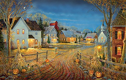 Autumn Jigsaw Puzzle (A Country Town in Autumn 550 Piece Jigsaw Puzzle by SunsOut)