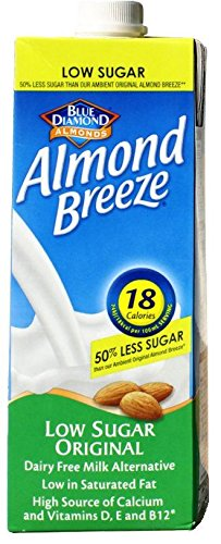 Almond Breeze Original Reduced Sugar Drink 1Ltr (Pack of 48) by Almond Breeze